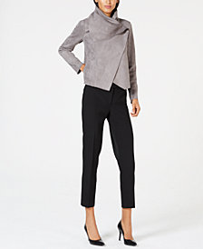 Anne Klein Faux-Suede Jacket & Slim-Fit Pants
