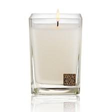 White Teak Cube Candle