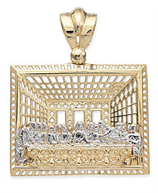 Two-Tone The Last Supper Pendant in 14k Gold & White Gold