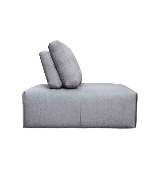 Moe's Home Collection Nathaniel Slipper Chair Light Gray