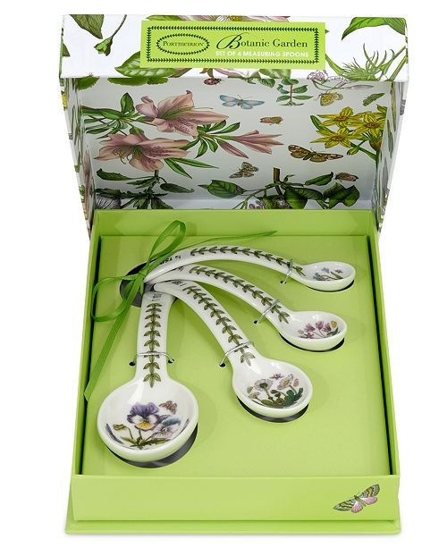 Portmeirion Measuring Spoons, Botanic Garden 4 Piece Set