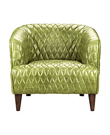 Magdelan Tufted Leather Arm Chair