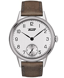 Men's Swiss Automatic Heritage Brown Leather Strap Watch 42mm