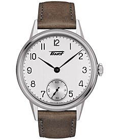 Tissot Men's Swiss Automatic Heritage Brown Leather Strap Watch 42mm