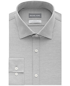 Michael Kors Men's Slim-Fit Non-Iron Airsoft Stretch Performance Stripe Dress Shirt