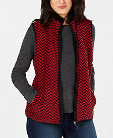 Karen Scott Chevron-Print Vest, Created for Macy's