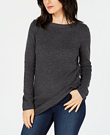 Karen Scott Long-Sleeve Tunic Sweater, Created for Macy's