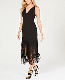Calvin Klein Fringe-Trim Gown