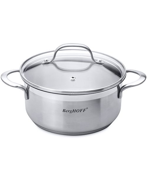 BergHoff Bistro 2-qt Stainless Steel Covered Casserole