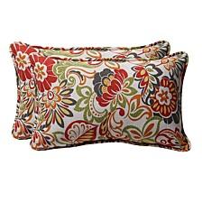 Zoe Citrus Rectangular Throw Pillow, Set of 2