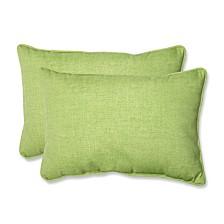 Baja Linen Lime Over-sized Rectangular Throw Pillow, Set of 2