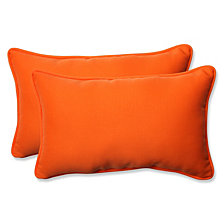 Sundeck Orange Rectangular Throw Pillow, Set of 2