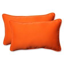 Sundeck Orange Rectangular Throw Pillow, Set of 2