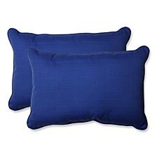 Fresco Navy Over-sized Rectangular Throw Pillow, Set of 2