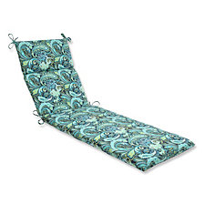 Pretty Paisley Navy Chaise Lounge Cushion