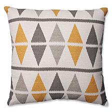 """Ikat Argyle Birch 18"""" Throw Pillow"""