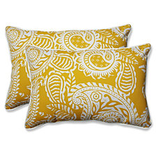 Addie Egg Yolk Over-sized Rectangular Throw Pillow, Set of 2