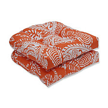 Addie Terra Cotta Wicker Seat Cushion, Set of 2