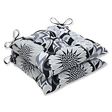 Sophia Graphite Wrought Iron Seat Cushion, Set of 2