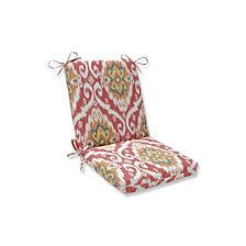 Ubud Coral Squared Corners Chair Cushion