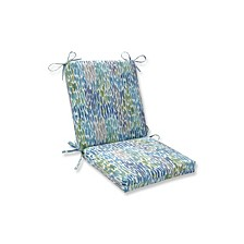 Make It Rain Cerulean Squared Corners Chair Cushion