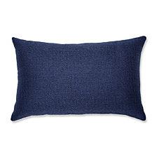 Sonoma Navy Rectangular Throw Pillow