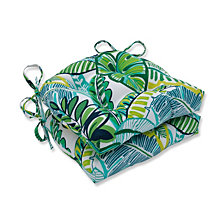 Aruba Jungle Green Reversible Chair Pad, Set of 2