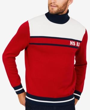 Nautica Men's Colorblocked Turtleneck Sweater