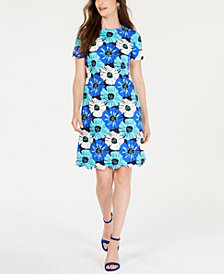 Pappagallo Floral-Print Shift Dress