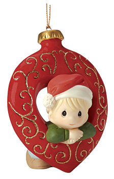 Precious Moments You Fill My Heart Ornament, Boy