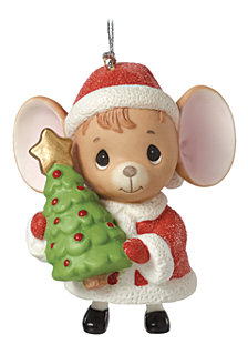 The Holidays Are Mice With You Mouse with Tree Bell Ornament