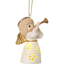 Precious Moments Make Music From The Heart Lighted Ornament
