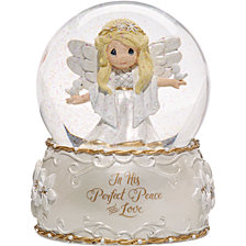 Precious Moments His Perfect Peace 7th in Annual Angel Series Musical Snow Globe