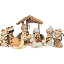 Precious Moments O Come Let Us Adore Him Deluxe 11 Piece Nativity Set