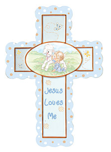 Jesus Loves Me Cross With Stand, Boy