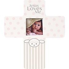 Precious Lamb Jesus Loves Me Cross Photo Frame, Girl