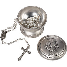 May His Light Shine First Communion Rosary and Box, Girl