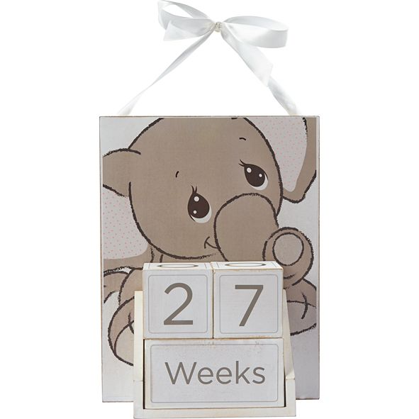 Precious Moments Milestones Elephant Baby Age Photo Prop Block Set