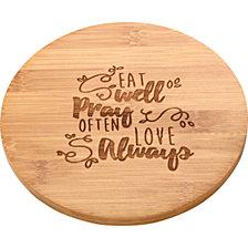 Bountiful Blessings Eat Pray Love Kitchen Trivet