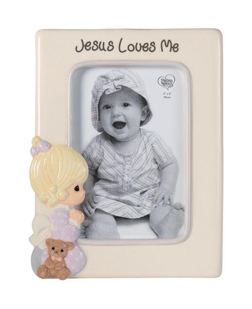 Precious Moments Jesus Loves Me Praying Girl 4 x 6 Photo Frame
