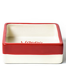 Coton Colors Happy Christmas Collection White Colorblock Square Trinket Bowl