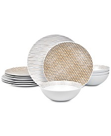 Noritake  Hammock 12-Pc. Dinnerware Set , Created for Macy's