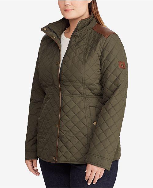 Lauren Ralph Lauren Plus Size Quilted Coat Coats Women Macys