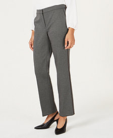 Bar III Piped-Trim Trousers, Created for Macy's