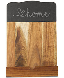 Cathy's Concepts Slate And Acacia Wood Tablet Recipe Stand