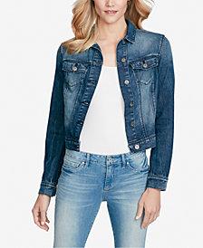 Jessica Simpson Juniors' Peony Cotton Ruffle Denim Jacket