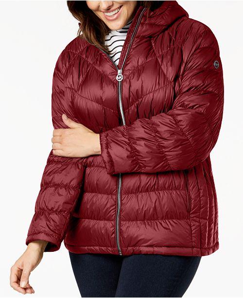 868eb87ab69 Michael Kors Plus Size Hooded Puffer Coat & Reviews - Coats ...
