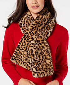 I.N.C. Leopard Faux-Fur Stole, Created for Macy's