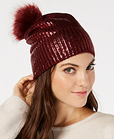 I.N.C. Liquid Shine Beanie, Created for Macy's