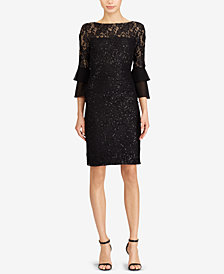 Lauren Ralph Lauren Petite Sheer-Yoke Lace Dress